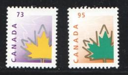 1998  Stylized Maple Leaf 73¢, 95¢ Definitives  Sc 1685-6  MNH - Ungebraucht