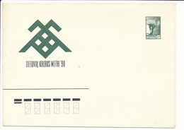 Mi U 4 Mint Stationery Cover / Year Of The Lithuanian Language / Freedom Angel - 16 August 1990 - Lithuania