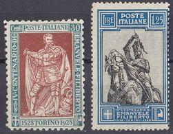 ITALIA - 1928 - Lotto Di 2 Valori Nuovi Senza Gomma: Yvert 215 E 219. - Used