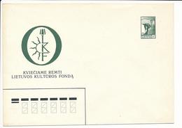 Mi U 5 Mint Stationery Cover / Lithuanian Culture Foundation / Freedom Angel - 16 August 1990 - Lithuania