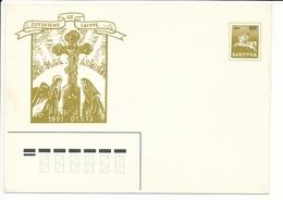 Mi U 10 Mint Stationery Cover / January Events Tragedy / Vytis - 21 March 1991 - Lithuania