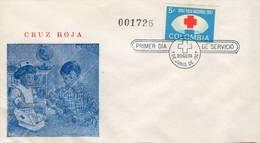 Lote CR25F, Colombia, 1967, SPD-FDC, Cruz Roja, Red Cross, Children - Colombia
