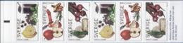 Sweden 2005 Gastronomy Stamp Booklet MNH Cept Citrus Fruit, Rosemary, Goat Cheese, Artichokes, Garlic, Elderberries - Alimentación