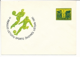Mi U 14 Mint Stationery Cover / 4th All-Lithuanian International Sport Games / Basketball, Soccer - 27 July 1991 - Lithuania