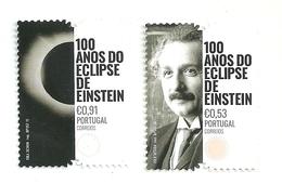 Portugal 2019 - 100 Years Einstein's Eclipse Set MNH - 1910-... République