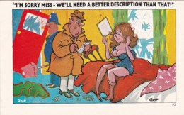 I'M SORRY MISS, WELL NEED A BETTER DESCRIPTION THAN THAT - Comics