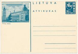 Mi P 29 ** MNH Stationery Postcard Vilnius Katedra Cathedral - Lithuania