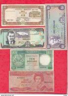 Iles Du Monde 13 Billets 10 Dans L 'état Et 3 état Moyen Lot N °4 - Banknotes