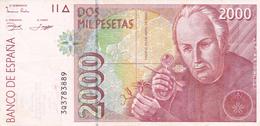 Espana Billete De 2000 Pesetas    Muy Buena - Espagne