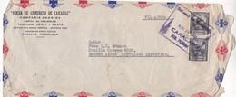 BOLSA DE COMERCIO DE CARACAS - COMMERCIAL ENVELOPE CIRCULEE 1948 VENEZUELA TO ARGENTINE - BLEUP - Venezuela