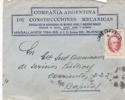 COMPAÑIA ARGENTINA DE CONSTRUCCIONES MECANICAS - COMMERCIAL ENVELOPE FRONT CIRCULEE 1985 ARGENTINE - BLEUP - Argentine