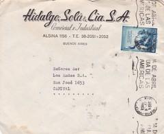 HIDALGO SOLA Y CIA SA - COMMERCIAL ENVELOPE CIRCULEE 1962 ARGENTINE BANDELETA PARLANTE - BLEUP - Argentine