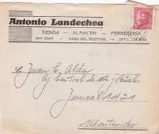 ANTONIO LANDECHEA ALMACEN FERRETERIA - COMMERCIAL ENVELOPE CIRCULEE FRONT CIRCA 1940s URUGUAY - BLEUP - Uruguay
