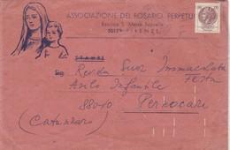 ASSOCIAZIONE DEL ROSARIO PERPETUO - COMMERCIAL ENVELOPE CIRCULEE 1975 ITALIE - BLEUP - 1946-.. République
