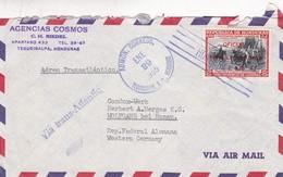 AGENCIAS COSMOS - COMMERCIAL ENVELOPE CIRCULEE 1955 HONDURAS A WERSTERN GERMANY - BLEUP - Honduras