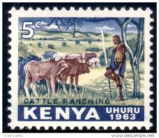 540 Kenya Elevage Cattle Ranching MNH ** Neuf Sans CH (KEN-1) - Agriculture