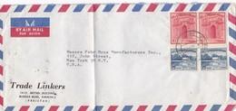 TRADE LINKERS - COMMERCIAL ENVELOPE CIRCULEE 1936 PAKISTAN TO USA - BLEUP - Pakistan
