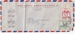 EDUARDO ARISTIZABAL G FABRICAS EXTRANGERAS - COMMERCIAL ENVELOPE CIRCULEE 1959 COLOMBIA TO USA - BLEUP - Colombie