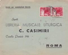 CEDOLA PER COMMISIONI LIBRARIA MUSICALE LITURGICA CIRCULEE 1952 ITALIE ITALY - BLEUP - 1946-.. République