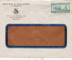 REGUSCI & VOULMINOT INGENIEROS - COMMERCIAL ENVELOPPE CIRCA 1950s URUGUAY - BLEUP - Uruguay