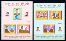 Ecuador MiNr. Block 44 + 46 Postfrisch MNH Kennedy, Adenauer, Churchill (W3242 - Ecuador