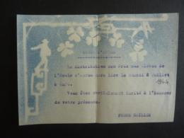 VIET-NAM DALAT ECOLE D'ADRAN Assister  à La Distribution Des Prix Axu éléves  1944     Mai 2019 Clas Lett - Faire-part