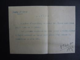 VIET-NAM DALAT  L'Ecole D'Adran  AVIS Congès De PÂQUES 1944   Ou 1945?   Mai 2019 Clas Lett - Documents Historiques