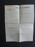 VIET-NAM DALAT  ECOLE DES FRERES - DEMANDE D'ADMISSION (VIerge) Enseignement PRIMAIRE SECONDAIRE   Mai 2019 Clas Lett - Historical Documents