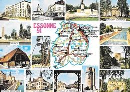 91 Carte Du Département De L'Essonne (2 Scans) - Non Classés