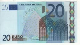 "20 EURO  ""V""   Spagna   Firma Trichet   M 017 A1   /  A  - UNC - EURO"