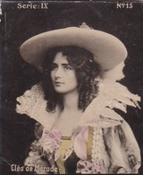 CLEO DE MERODE. HABANILLOS LA PLATA. COLORISE. CARD TARJETA COLECCIONABLE TABACO. CIRCA 1915 SIZE 4.5x5.5cm - BLEUP - Célébrités