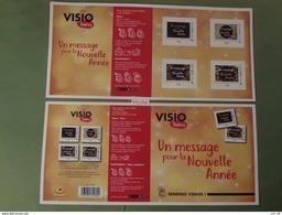 """2017 FRANCE """" VISIO TIMBRES UN MESSAGE POUR LA NOUVELLE ANNÉE  """" Collector De 4 Timbres MONDE 20g ADHESIF - Frankrijk"""