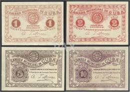 PORTUGAL - CUBA - CÉDULAS De 1, 2, 5 E 10 CENTAVOS - 31.12.1919 - EMERGENCY PAPER MONEY - COLEÇÃO COMPLETA - SEE 2 SCANS - Portugal