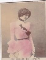 CLEO DE MERODE. CIGARRILLOS BOSTON. COLORISE. CARD TARJETA COLECCIONABLE TABACO. CIRCA 1915 SIZE 4.5x5.5cm - BLEUP - Berühmtheiten