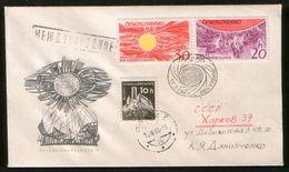 Czechoslovakia 1965 Air Mail Cover Space, Year Active Sun - Cartas