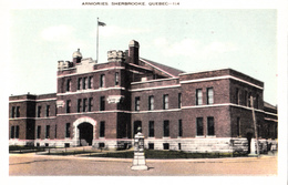 Sherbrooke Québec - Manège Militaire - Armories Arsenal Armory - Written 1939 (?) - 2 Scans - Sherbrooke