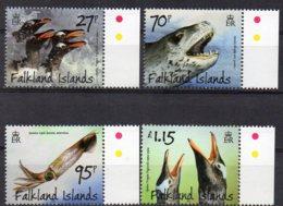 2011 Penguins Predators & Prey Set 4 Values MNH - Falkland Islands