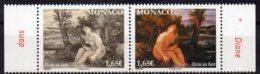 2014 Paintings Nudes 2 Values MNH - Monaco
