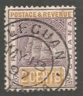 BRITISH GUIANA. LEGUAN POSTMARK. 2c USED - British Guiana (...-1966)