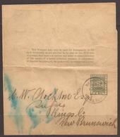 BRITISH GUIANA/ GUYANA. 1898. 1c IMPRINTED WRAPPER TO NEW BRUNSWICK / CANADA. - British Guiana (...-1966)