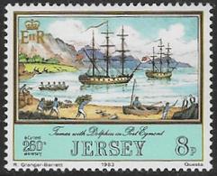 Jersey SG304 1983 Jersey Adventurers (1st Series) 8p Unmounted Mint [39/32273/25D] - Jersey