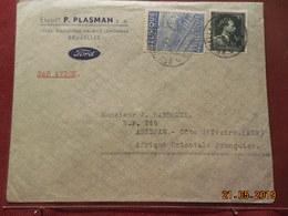 Lettre De 19.. à Destination D'Abidjan (AOF) - Belgique