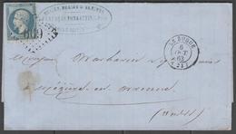 Dordogne:  G.C.669 Sur N°22 + CàD LE BUGUE(23) Sur LAC De 1863 - Marcophilie (Lettres)