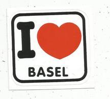 Autocollant , I LOVE BASEL , Suisse - Autocollants