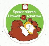 Autocollant , Allemagne , Sparen Nützen. Umwelt Schützen - Autocollants