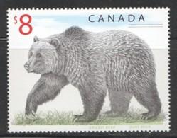 1997  $8 Grizzly Bear  Sc 1694 MNH - 1952-.... Elizabeth II