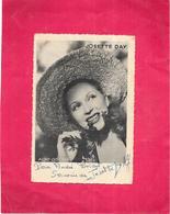 AUTOGRAPHE - Portrait De JOSETTE DAY - Carte Dédicacée  Le 02/01/1948 - ARD - - Artistes
