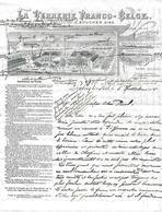 Facture Lettre - VERRERIE FRANCO-BELGE à LEMBECQ (Belgique) Bouteilles à Bière - 1905 - - Halle