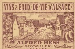 VINS & EAUX DE VIE D'ALSACE - ALFRED HESS - VITICULTEUR - DISTILLATEUR - GOXWILLER - TARIFS - Alimentos