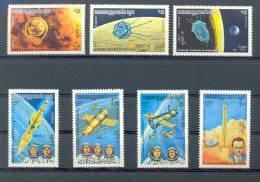 Mua029 TRANSPORT RUIMTEVAART SATELLIET COSMONAUT SPACE SATELLITE PLANET KAMPUCHEA 1984 PF/MNH # - Azië